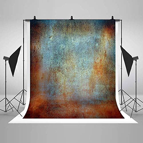 COMOPHOTO Abstract Backdrops for Photography Vintage Brown Blue Rust Photo Props Studios Background for Photographers