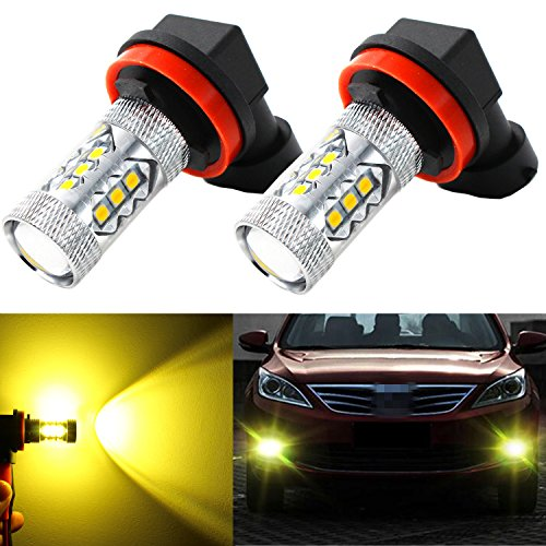 Alla Lighting High Power 3030 SMD New Version Xtremely Super Bright H11 H8 H16 Type 2 Gold Yellow LED Bulbs for Fog Light Lamps Replacement (Fog Lights Honda Odyssey 2011 compare prices)