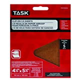 Task Tools POX55500 4-1/2-Inch by 5-1/2-Inch Clip-On 1/4-Sheet Sandpaper, Assorted Grit, 5-Pack