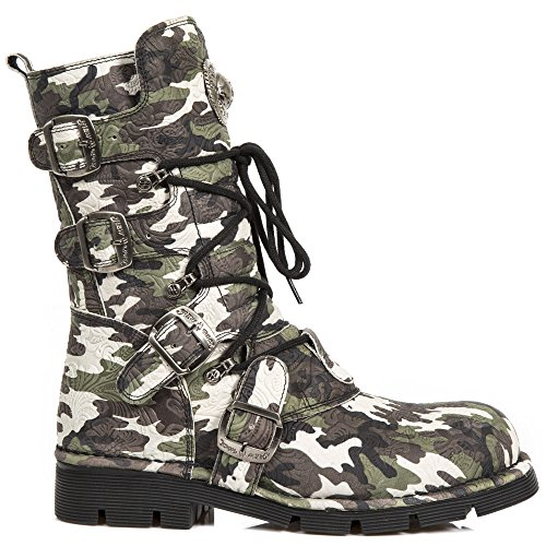 Flower Camouflage Up Vintage New Shoes Rock Lace Boots Camo Leather tSxqx6HwI