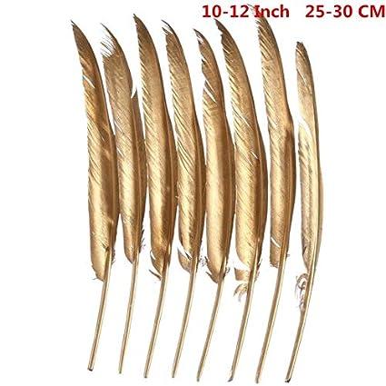 ecebd3df7555 Shoppy Star Venta al por mayor Glitter Gold Silver Dipped Plumas de plumas  de ganso para manualidades ...