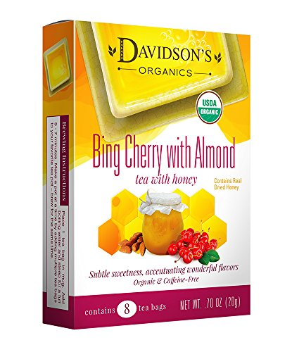 Davidson's Tea Bing Cherry with Almond, 8-Count Tea Bags (Pack of 12)