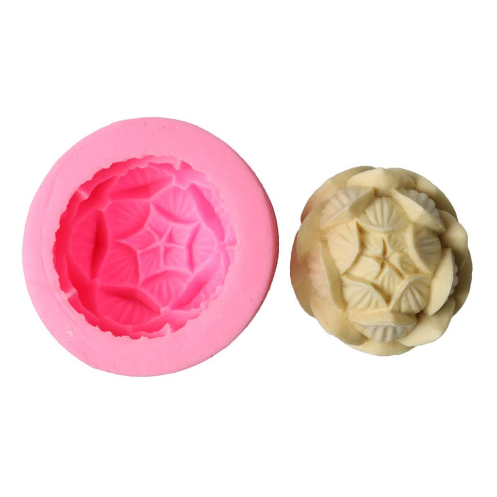 CAOREN 3D Lotus Silicone Aroma Candle Mold Soap Clay Making DIY Cake Chocolate Baking