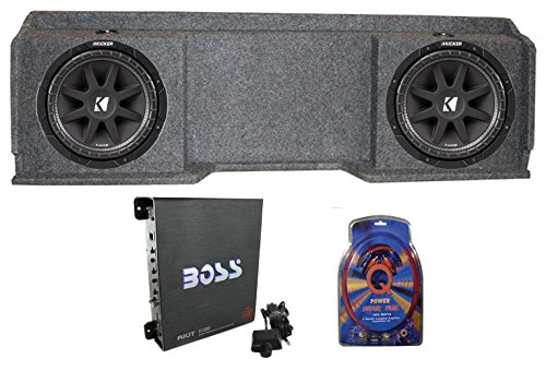 Kicker 10C104 For Chevy Silverado Ext Cab '99-06 Dual Sub Package Box Amp Wire (Best Car Subwoofer For The Money)