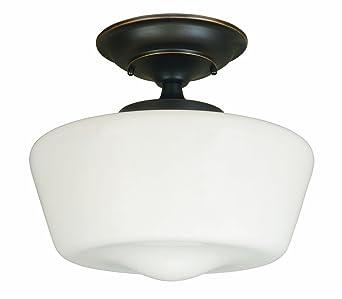 Perfect World Imports Lighting 9007 88 Luray 1 Light Semi Flush Light Fixture,