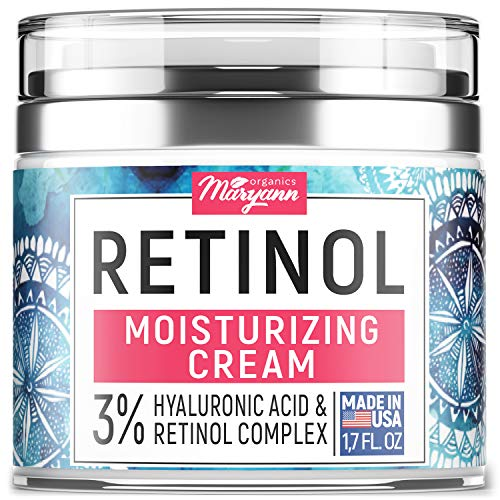 515g%2B05JewL - Anti Aging Retinol Moisturizer Cream for Face - Natural and Organic Night Cream - Made in USA - Wrinkle Cream for Women and Men - Facial Cream with Hyaluronic Acid and 3% Retinol Complex