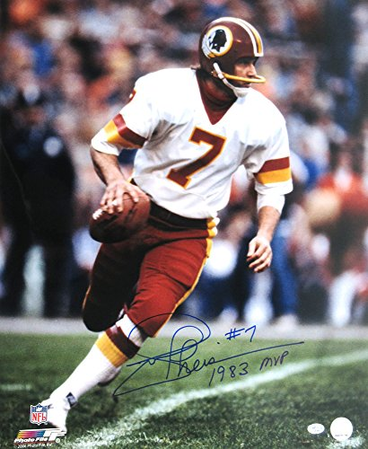 Joe Theismann Autographed/Signed Washington Redskins Vintage Action NFL Photo with