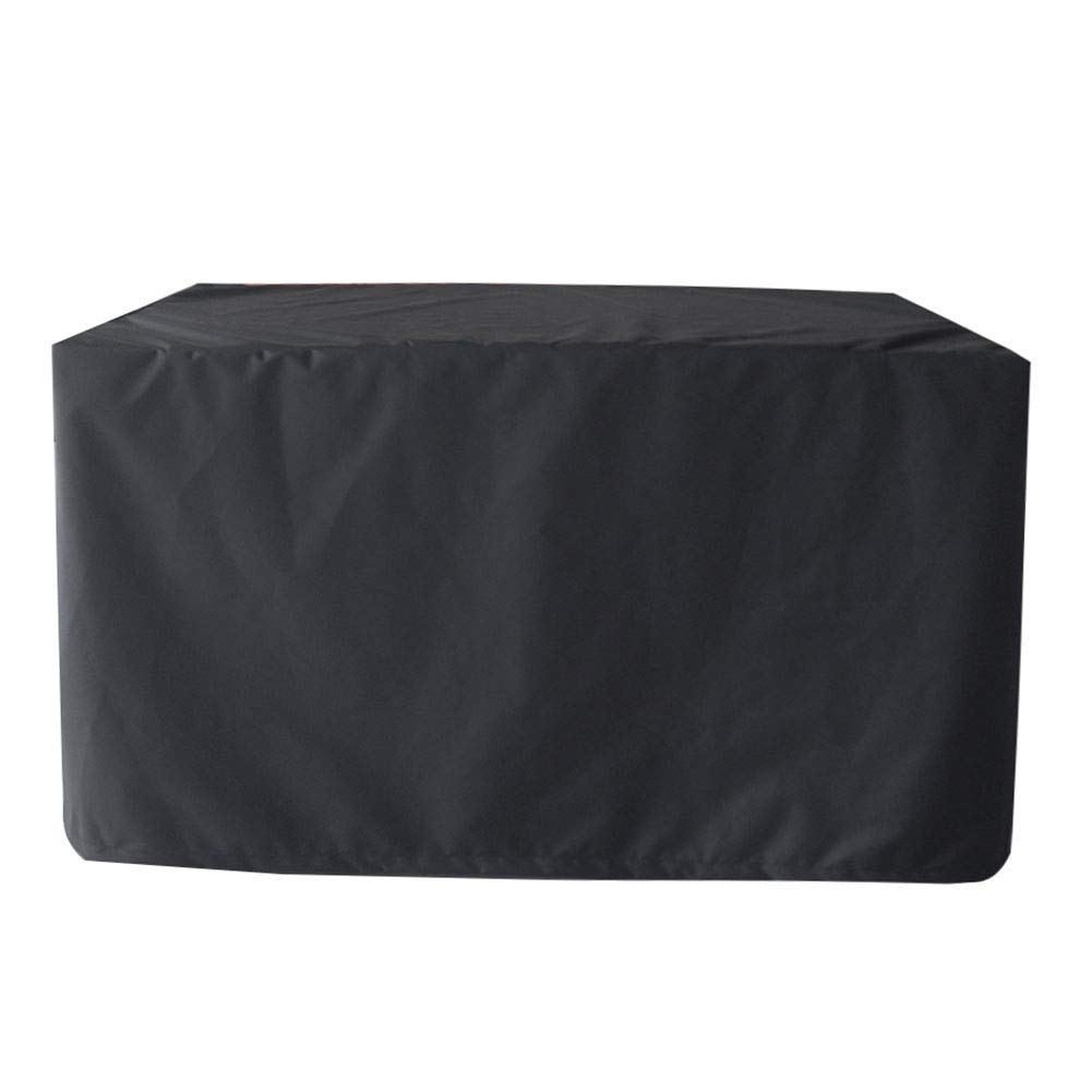 Color : Black, Size : 120x120x74cm Customized Patio Furniture Table Cover Garden Furniture Cover Waterproof Patio Set Cover Breathable Oxford Fabric Multi Sizes