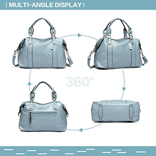 Bag Hobo Miss Handbag Women Leather Quality Casual Shoulder Lulu Blue 1828 Top Faux Small xqq0SfXg