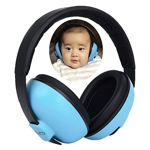 Put these on my one year old niece and she didn't seem to mind then on. These are great for young babies and toddlers that don't like loud noise. Very lightweight and made well. Fast shipping.