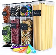 Chef's Path Airtight Food Storage Containers Set - Kitchen & Pantry Organization - BPA-Free - Plastic