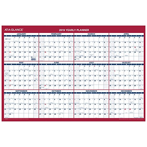 AT-A-GLANCE 2019 Yearly Wall Calendar, 36'' x 24'', XLarge, Vertical / Horizontal (PM21228) by At-A-Glance (Image #3)