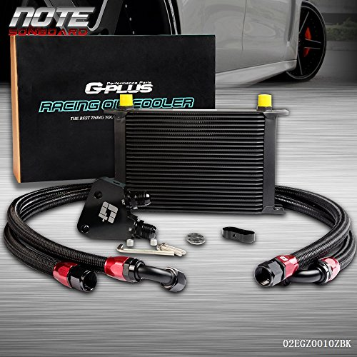 Racing Kit Cooler Oil - 25 Row Aluminum Engine Transmission Racing Oil Cooler Kit + Oil Cooler Sandwich Plate Kit For LS1 LS2 LS3 LSX VE HSV
