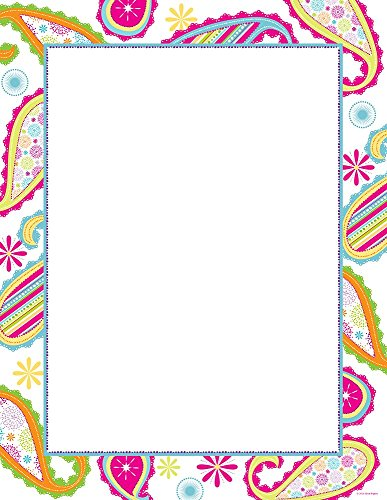 - Great Papers! Patterned Paisley Letterhead, 80 Count, 8.5