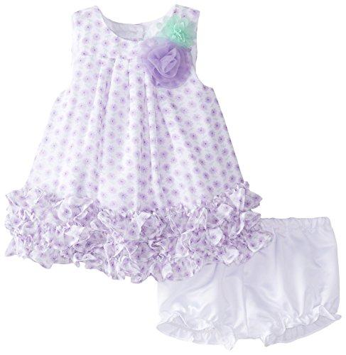 Pippa & Julie Baby-Girls Newborn Purple Floral Set, Purple, 3-6 Months