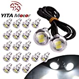 YITAMOTOR 20 X 23mm Eagle Eye High Power 5730 LED White Fog Daytime DRL Backup bulbs 9W