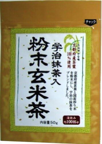 明和 宇治抹茶入粉末玄米茶 50g×6個
