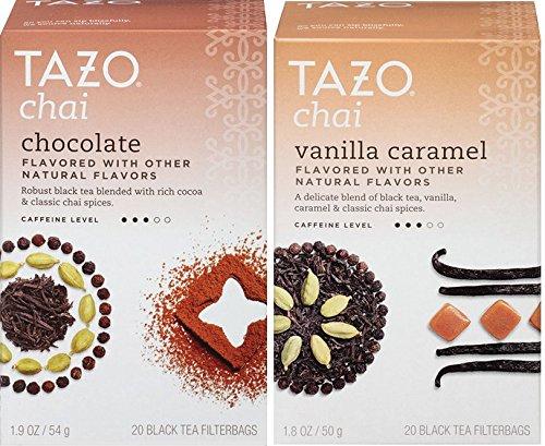 Tazo Chai Tea, Chocolate & Vanilla Caramel, 20 Filterbags Each