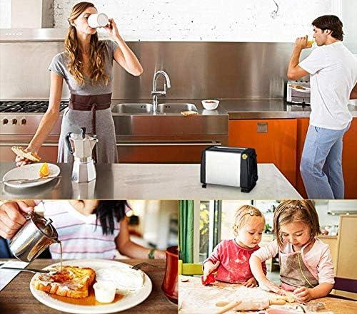 NLRHH Sandwich Maker Toastie avec Plein Automatique Petit déjeuner Machine en Acier Inoxydable Peng