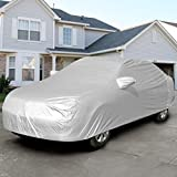 Safstar Full Car Cover, Auto Armor All Weather Proof Universal Fit , Sun UV, Snow, Dust Rain Resistant, Gray
