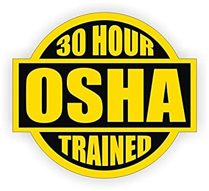 9ff5c801d69 30 Hour OSHA Trained Hard Hat Sticker   Helmet Decal Label Lunch Tool Box Safety  Stickers - - Amazon.com