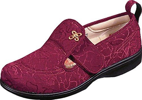 両方依存する自伝高齢者 靴 ウォーキングシューズ スニーカー 女性 便利 軽い 安心 補助 介護 シルバー 敬老の日 贈り物 プレゼント パステル503 ワイン ムーンスター/23.5cm