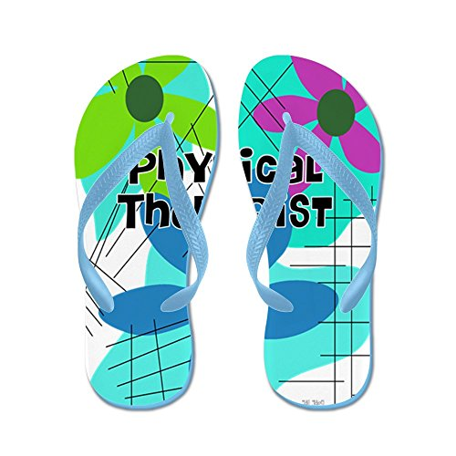 Cafepress Physical Therapist 3 - Chanclas, Sandalias Thong Divertidas, Sandalias De Playa Caribbean Blue