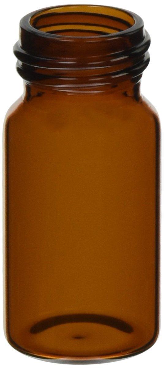 JG Finneran 320024-2856A Borosilicate Glass Environmental VOA Vial, 20mL Capacity, Amber, 28mm Diameter x 56mm Length, 24-400mm Thread (Pack of 144)
