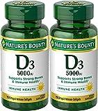 Nature's Bounty Maximum Strength D3 5000IU, 300 Softgels (2 X 150 Count Bottles) Review