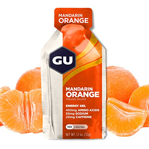 GU Energy Original Sports Nutrition Energy Gel, Mandarin Orange, 24-Count