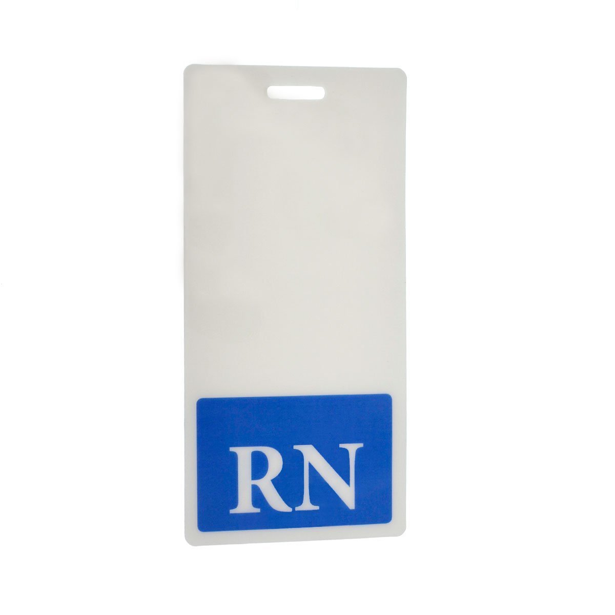 50 Pack - RN Registered Nurse Vertical Hospital ID Badge Buddies with Blue Background by Specialist ID