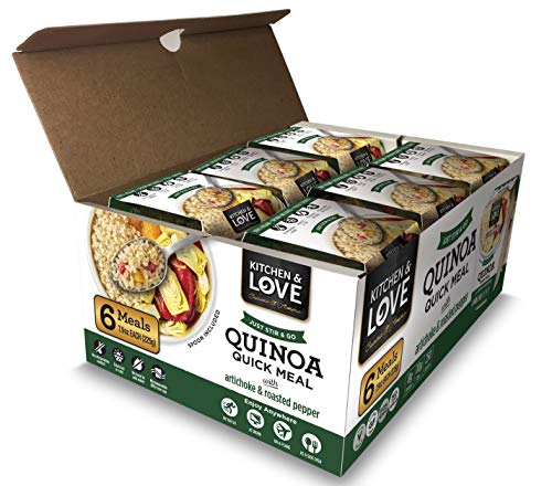 Kitchen & Love Artichoke and Roasted Pepper Quinoa Quick Meal 6 Pack