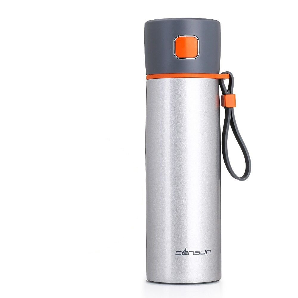 Silver Antibacterial Stainless Steel Cup Insulated Travel Coffee Mug16Oz by Travel Mugs