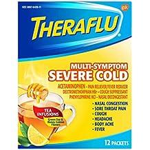 Theraflu Multi-Symptom Severe Cold Green Tea & Honey Lemon 12 ea