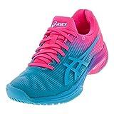 ASICS Solution Speed FF Ltd Women's Tennis Shoe (Aquarium/Pink) (9.5)