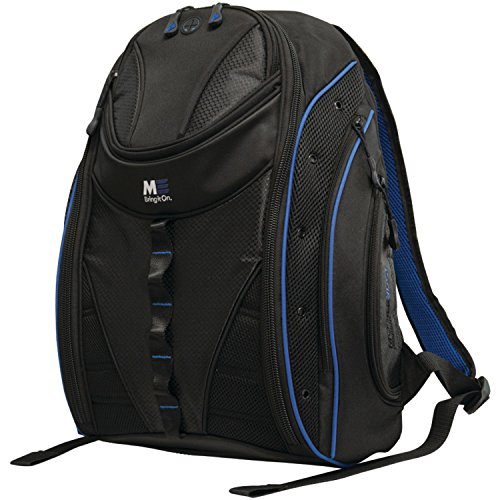 Blue Trim Express Laptop Backpack 2.0 16 Inch PC, 17 Inch Mac for Men, Women, Students MEBP32 ()