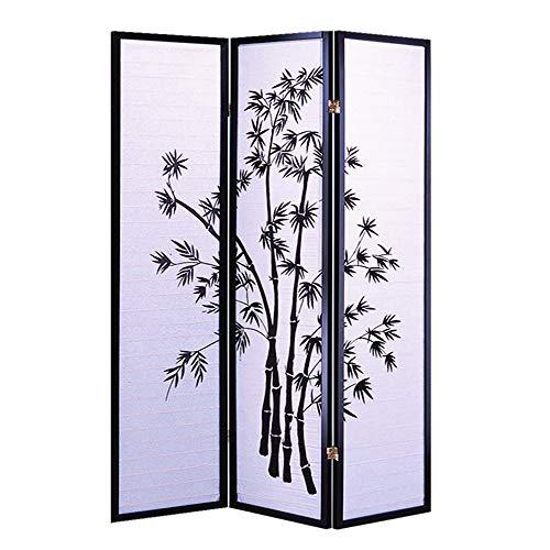 - Screen Gems Bamboo Shoji Screen SG-591 Room Divider, Black