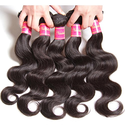 Nadula Hair 7a Best Quality Brazilian Body Wave Virgin Hair Extensions 3 Bundles 18 20 22 Brazilian Wavy Unprocessed Human Hair Weave Natural Color by Nadula (Image #1)