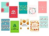 Cheap Modern Essentials & Co Seasonal 12×18 Garden Flag Set of 10- Decorative Holiday Banner Assortment – Heavy Duty Polyester & Weatherproof for Indoor or Outdoor- Winter, Spring, Summer, Fall