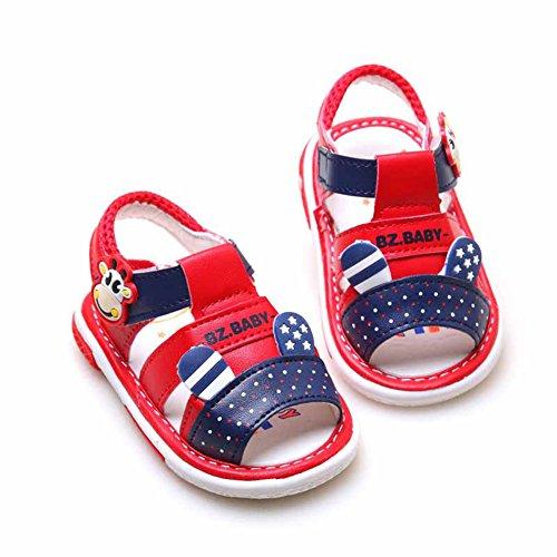 Scothen Niño unsex cuero nobuck bebé sandalia sandalias del bebé zapatos de bebé de los bebés, zapatos, zapatos de bebé del niño de las sandalias de la muchacha del verano zapatos del bebé Red