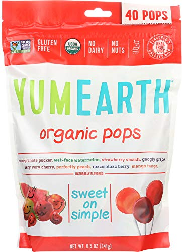 (YumEarth (NOT A CASE) Assorted Organic Pops 40+ Pops)