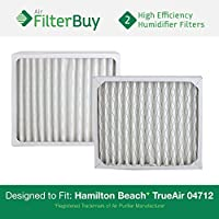 2 - 04712 Hamilton Beach True Air Replacement Air Purifier Filters. Designed by FilterBuy to Fit True Air Model # 04381.