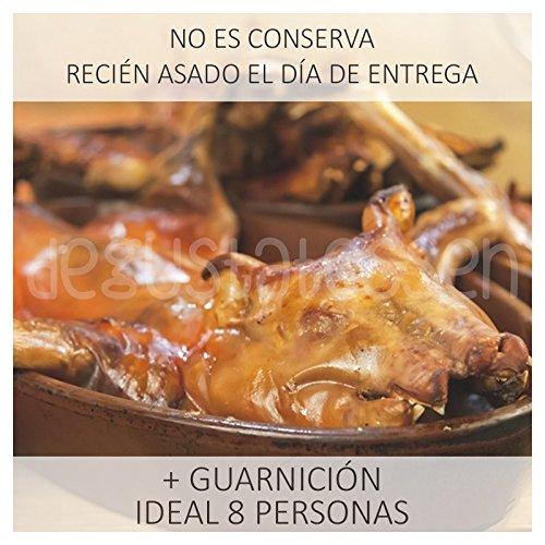 Cuatro cuartos de cochinillo lechal recién asado al estilo Segoviano con patata asada y cebolleta caramelizada: Amazon.es: Alimentación y bebidas