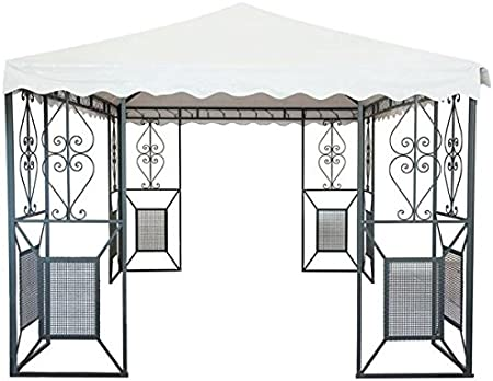 Cenadores línea jardín 'Friendly' carpa 5 x 4 de hierro forjado