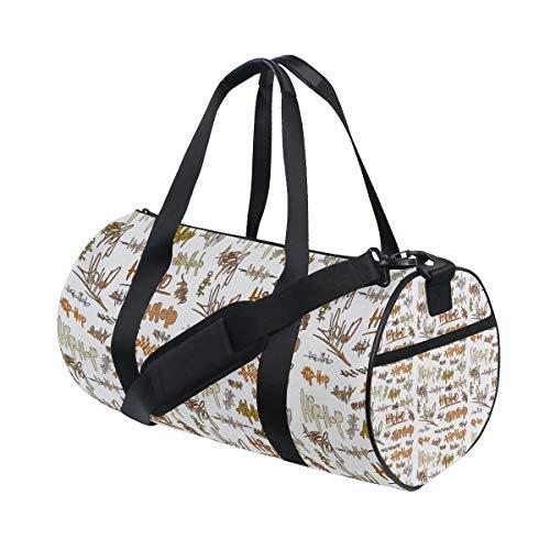Graffiti Party Tags Urban Signature Water Resistant Sports Gym Travel Weekender Bag Men&women Duffel Bag