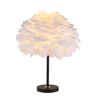 Lámparas de mesa y mesilla de noche Lámpara de Plumas ...