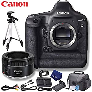 Canon EOS-1D X DSLR Camera (US Model) Plus Bundle