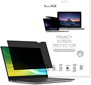SenseAGE Privacy Screen Protector Filter for 15.6 Inch Widescreen Laptops, Anti-Blue Light Privacy Screen Protector for Notebook