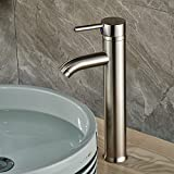 Rozin Tall Single Hole Bathroom Sink Faucet Vessel Mixer Tap Brushed Nickel