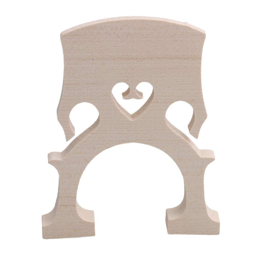 Yibuy 4/4 Size Wooden Primary Color Bridge for Cello Parts Music Instrument Replacement Yibuy30